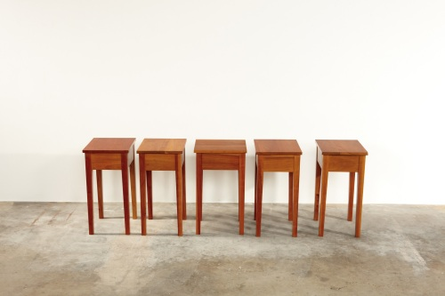 Roy McMakin, Set of Stools, Lot 53