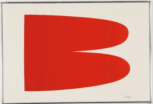 "Lot 280, Ellsworth Kelly, ""Red Orange"""