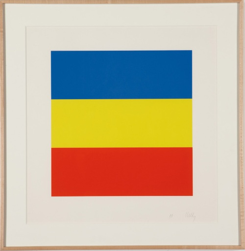 "Lot 281, Ellsworth Kelly, ""Blue/Yellow/Red"""