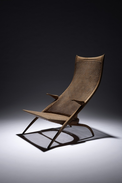"Dan Johnson, Rare Highback ""Gazelle"" Lounge Chair"