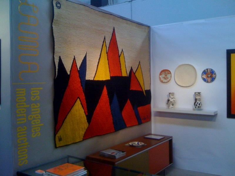Calder tapestry with LAMA Logo