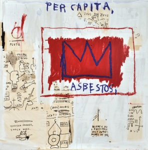 "Lot 316, Jean-Michel Basquiat, ""Per Capita"", Silkscreen, Estimate $8,000 - 12,000"