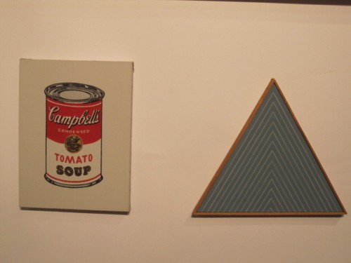 "Richard Pettibone ""Andy Warhol, Tomato Soup, 1962"" and ""Stella, 1966"" sold opening night of Modernism NY"