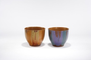 Lot 4 and Lot 5, David Cressey, Flame Glaze Planters, each estimated at $1,200 - 1,500