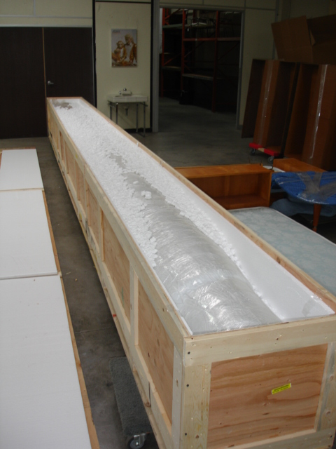 26 Foot Long Crate Containing The Frank Lloyd Wright Rug