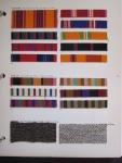 Millerstripe, Jacob's Coat, and Superwool Textile Samples