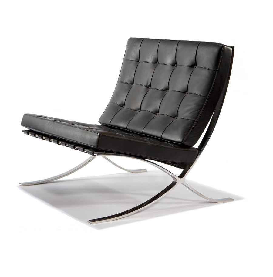 In May 1929, For The German Pavilion Hosted At The Barcelona International  Exposition, Mies Designed The Barcelona Chair For The King And Queen Of  Spain To ...